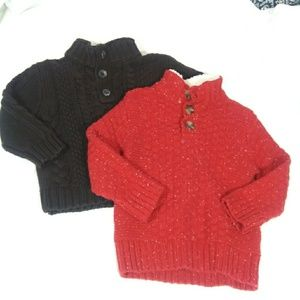 Lot Of 2 Boy Winter Sweaters Size 2 Toddlers